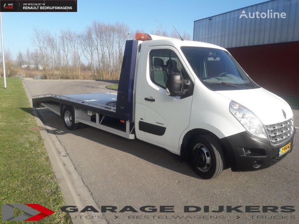 شاحنة نقل السيارات RENAULT Master 150-35 Tijhof Alu Oprijwagen 165.000 Km
