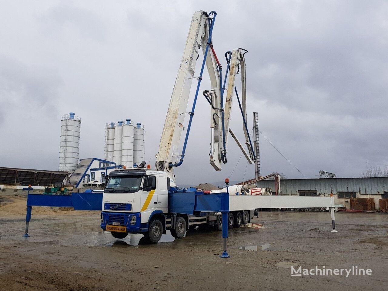 مضخة الخرسانة VOLVO FH 16 580 12x4 Euro 5, 61m concrete pump 200m3/h