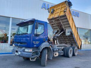 شاحنة قلابة RENAULT 370.34 6X4. CAMION VOLQUETE. COLOR AZUL