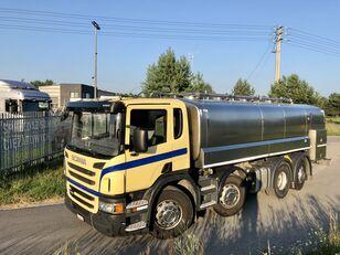 شاحنة نقل الألبان SCANIA P 400 KM 8x2 Beczka Do Mleka Sprowadzona Ze Szwajcarii