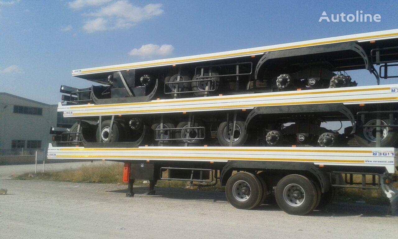 جديدة العربات نصف المقطورة عربة مقطورة مسطحة LIDER تيادر سطحات مقطورات مسطحة مواصفات اوربية موديلNEW 2019
