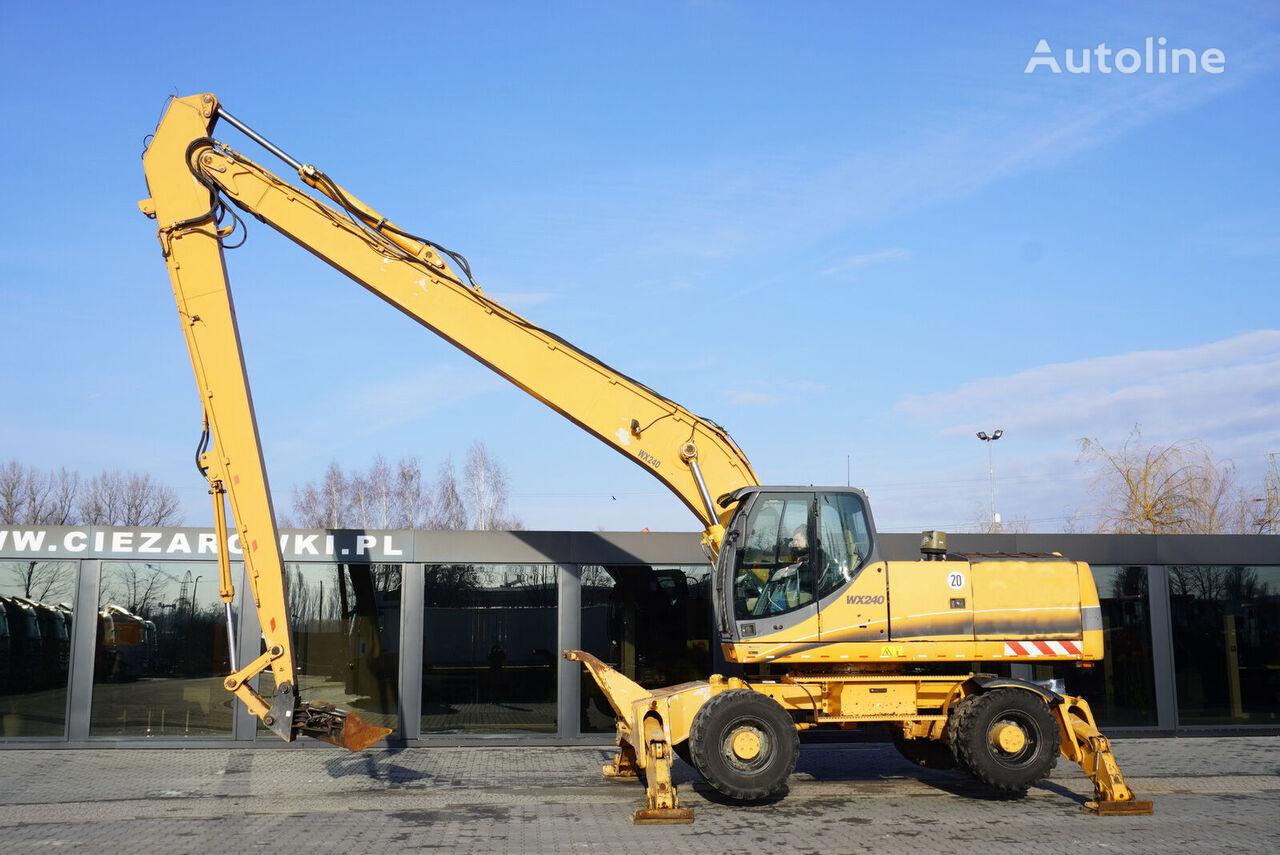 حفارة ذات العجلات CASE WX240 , 23t , LONG REACH 16m , 4k MTH , hydraulic bucket , joyst