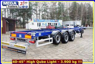 جديدة العربات نصف المقطورة شاحنة نقل الحاويات OZGUL 40-45 Fuß (HQ), MEGA Trailers Gose Neck Containerchassis BEREIT