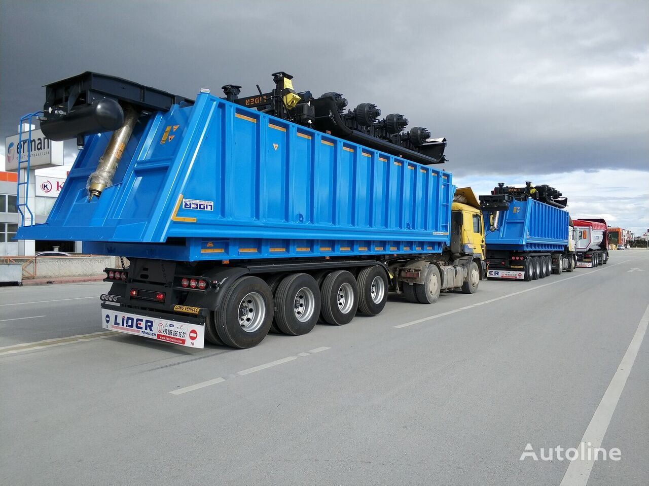 جديدة العربات نصف المقطورة شاحنة قلابة LIDER 2021 MODEL NEW 35 Mt3 DUMPER ( BENNE )