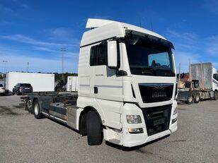 شاحنة نقل الحاويات MAN TGX 26.480 6X2-4 LL, Intarder, Euro 6, BDF-Chassi, 2015