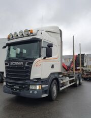 شاحنة نقل الأخشاب SCANIA R500 V8 6X4, + Epsilon M110L80, 2016 *incoming*