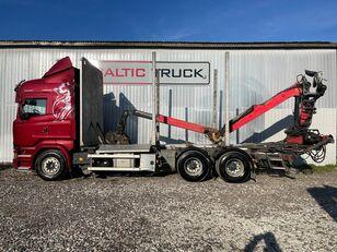 شاحنة نقل الأخشاب SCANIA R580, 6x4 + CRANE, EURO6, RETARDER